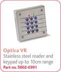 eXprox带键盘光电读卡器(金属防破坏)
